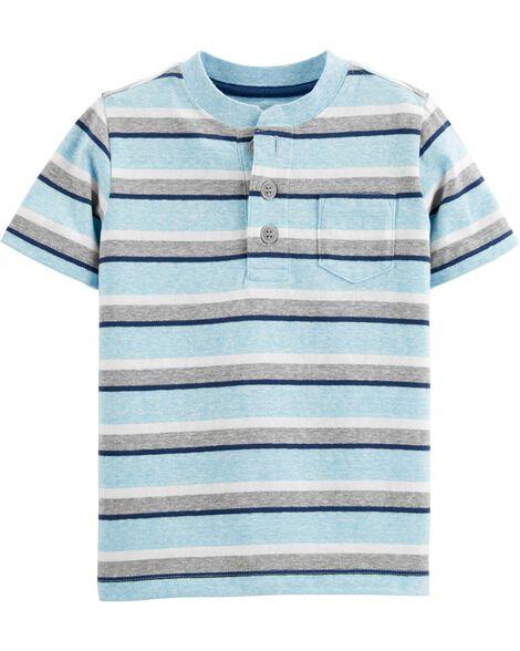 0e3423b0 Striped Henley Pocket Tee   OshKosh.com