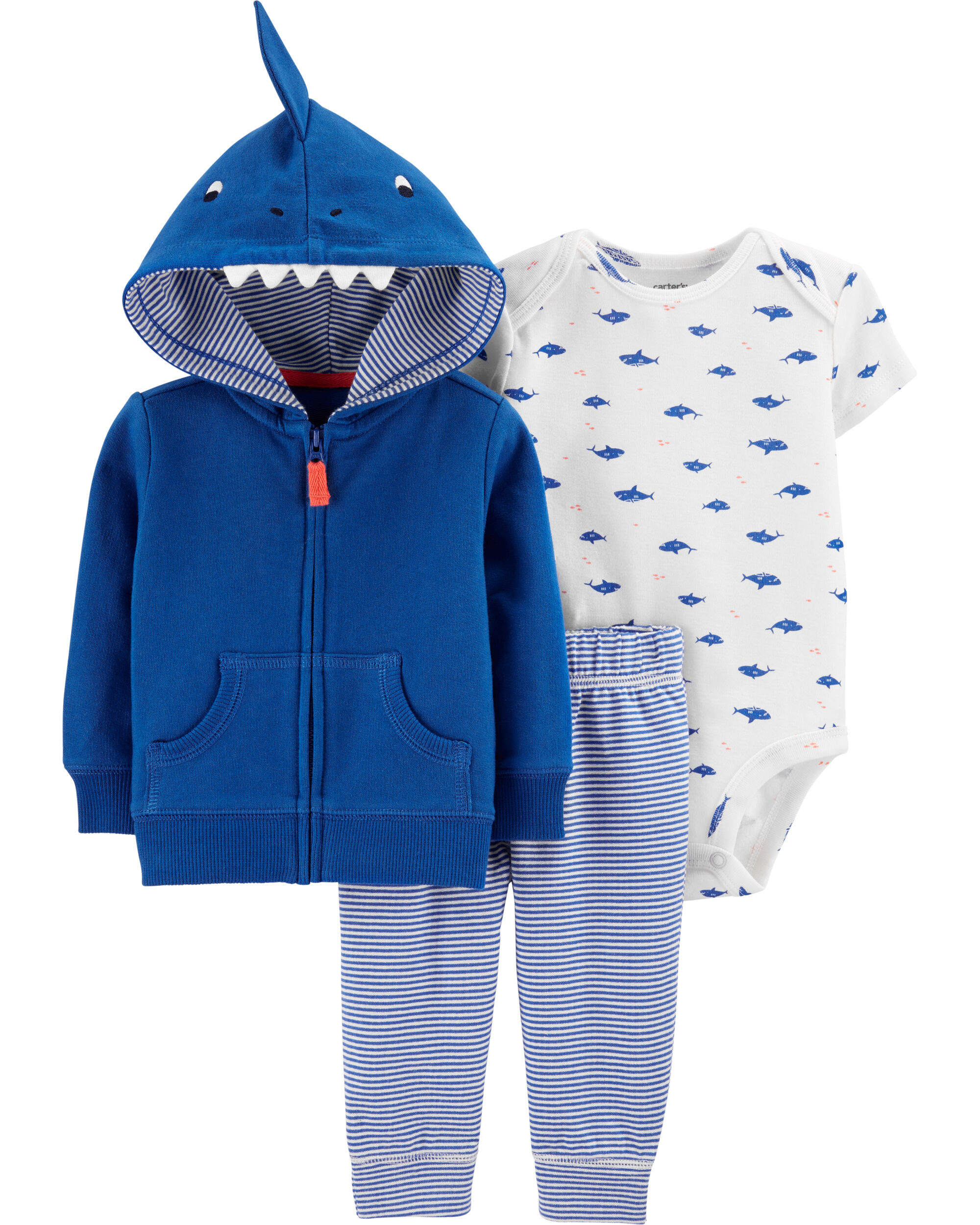 3 Piece Hoodie Set 6 Designs NEW Baby Cardigan Sets Carters 6-24 Mths