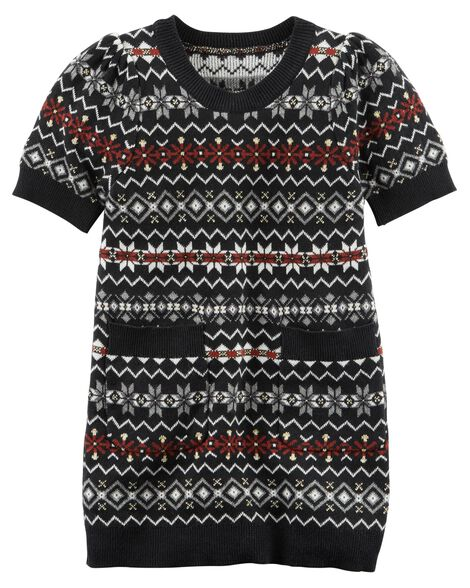a2cb6fb16 Fair Isle Sparkle Sweater Dress