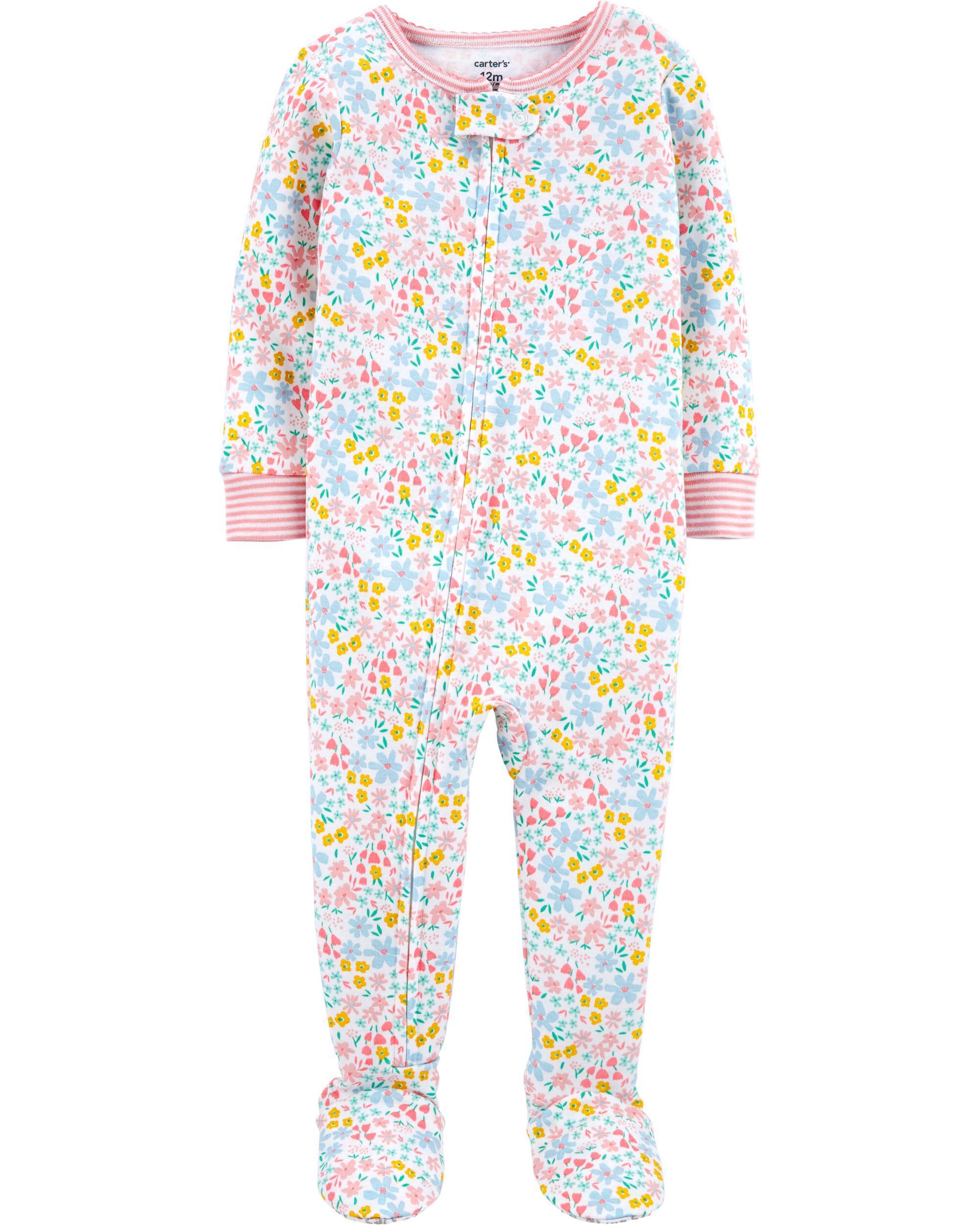*DOORBUSTER*1-Piece 100% Snug Fit Cotton Footie PJs