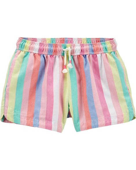 Striped Twill Shorts