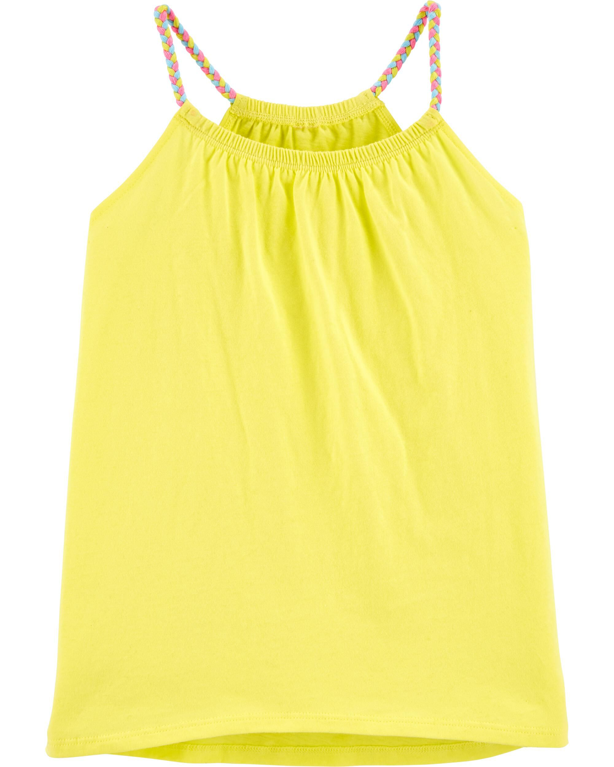 Girls 2 LOT STRAWBERRY SHORTCAKE TANK TOP Undershirt WHITE PInk Yellow SIZE 4