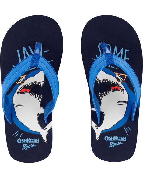 OshKosh Shark Flip Flops