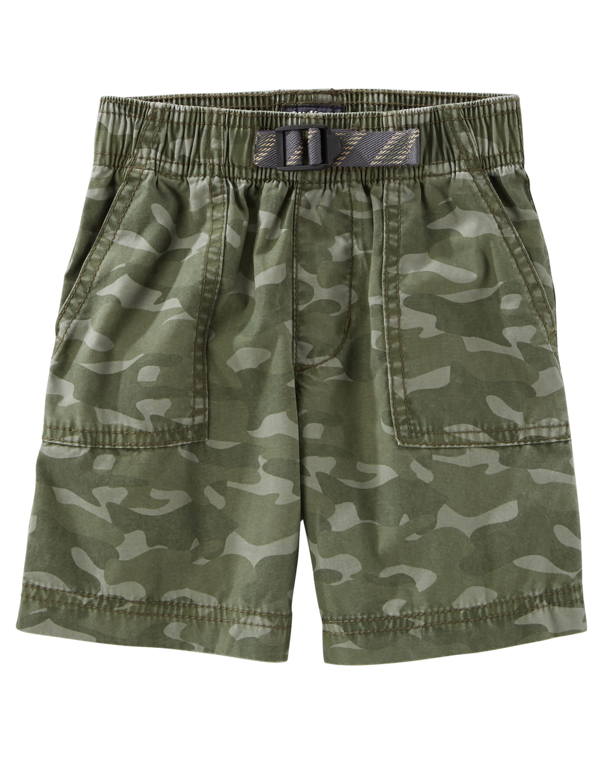 Camo Print Camp Shorts