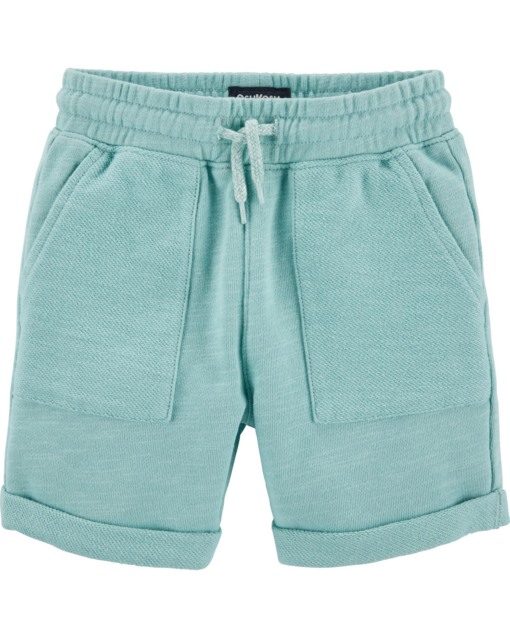 Carters Little Girls French Terry Shorts 2T, Turquoise