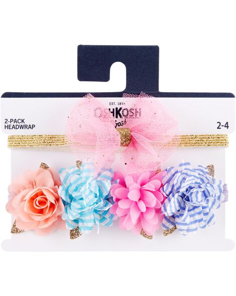 2-Pack Plumes & Bow Headwraps