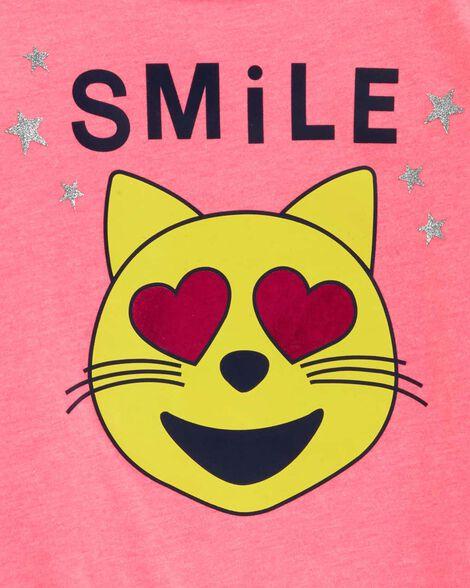 Tie-Front Cat Emoji Top