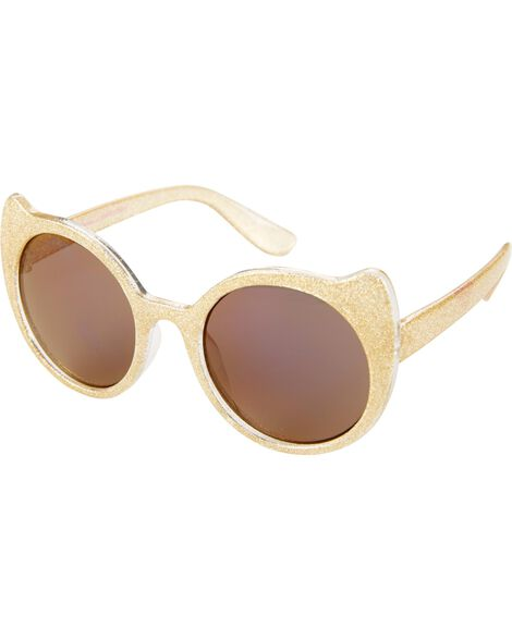 Gold Glitter Cat Sunglasses