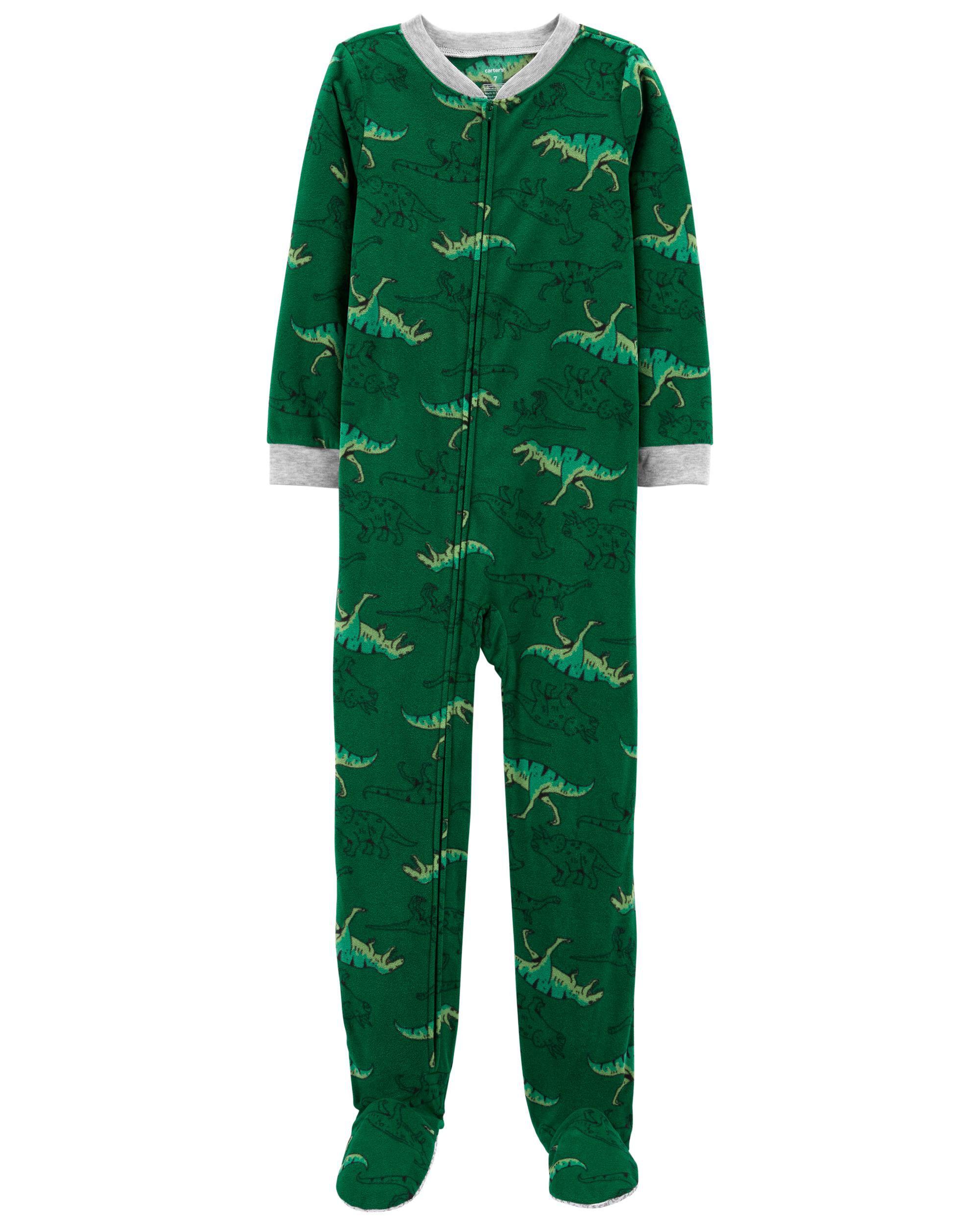 *DOORBUSTER*1-Piece Dinosaur Fleece Footie PJs