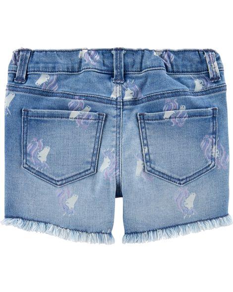 Unicorn Stretch Denim Shorts