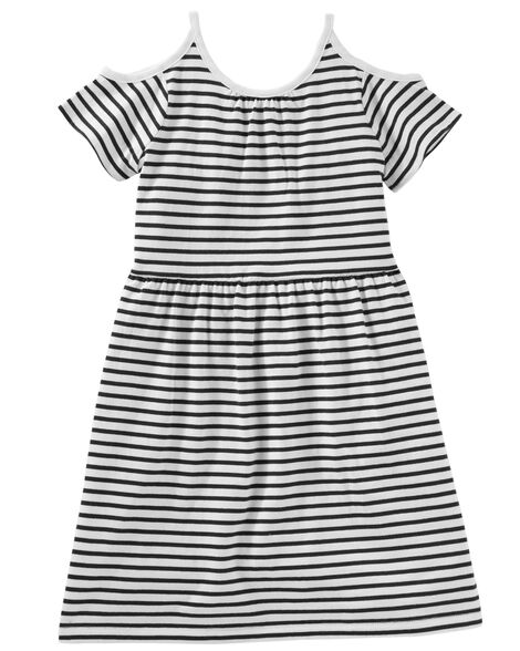 7ab99e980a95 Cold Shoulder Striped Dress