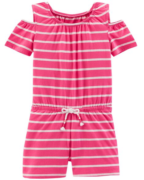e0e4d74c1ac5 Images. Cold Shoulder Striped Romper