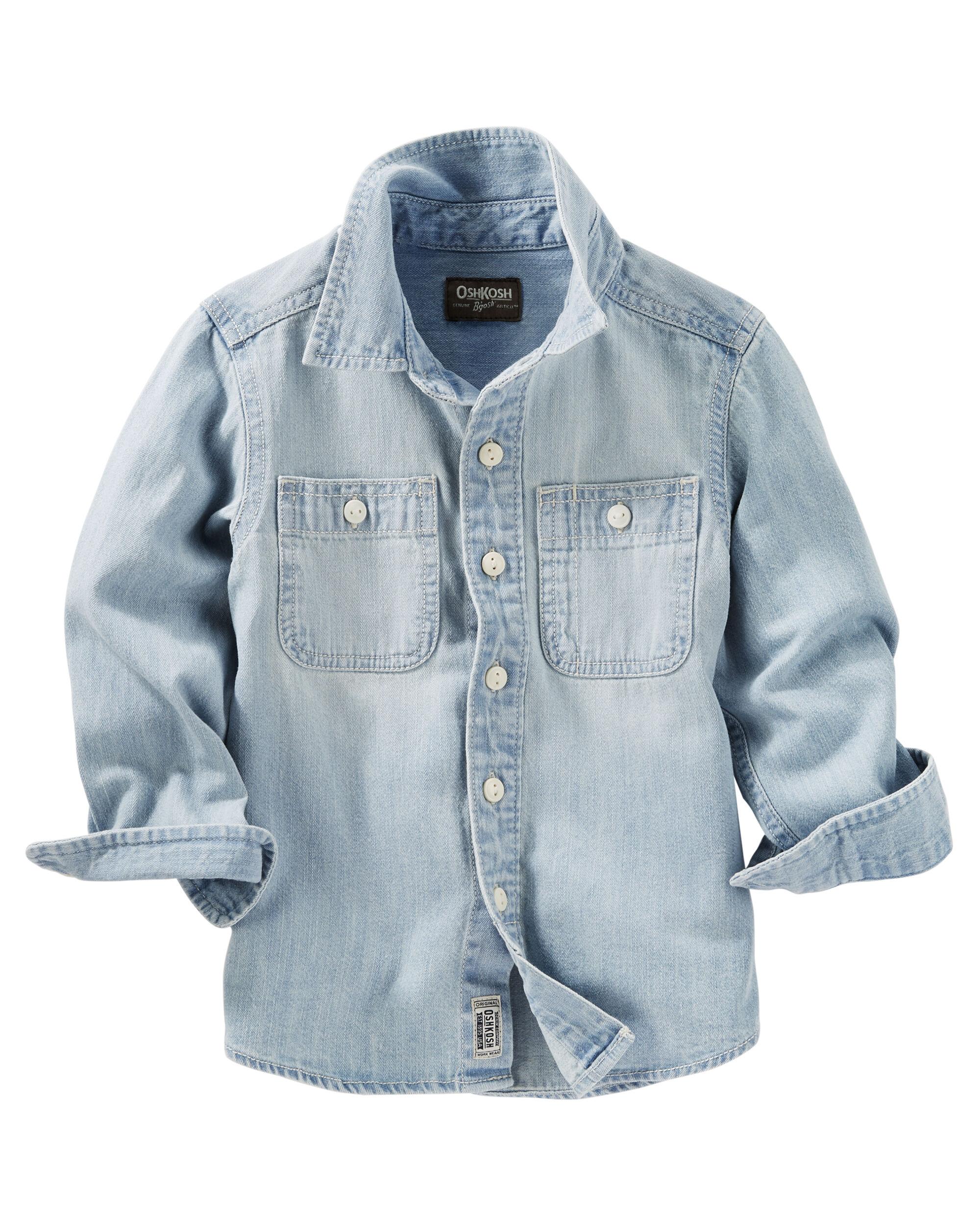 2 Pocket Button Front Chambray Shirt Oshkosh Com