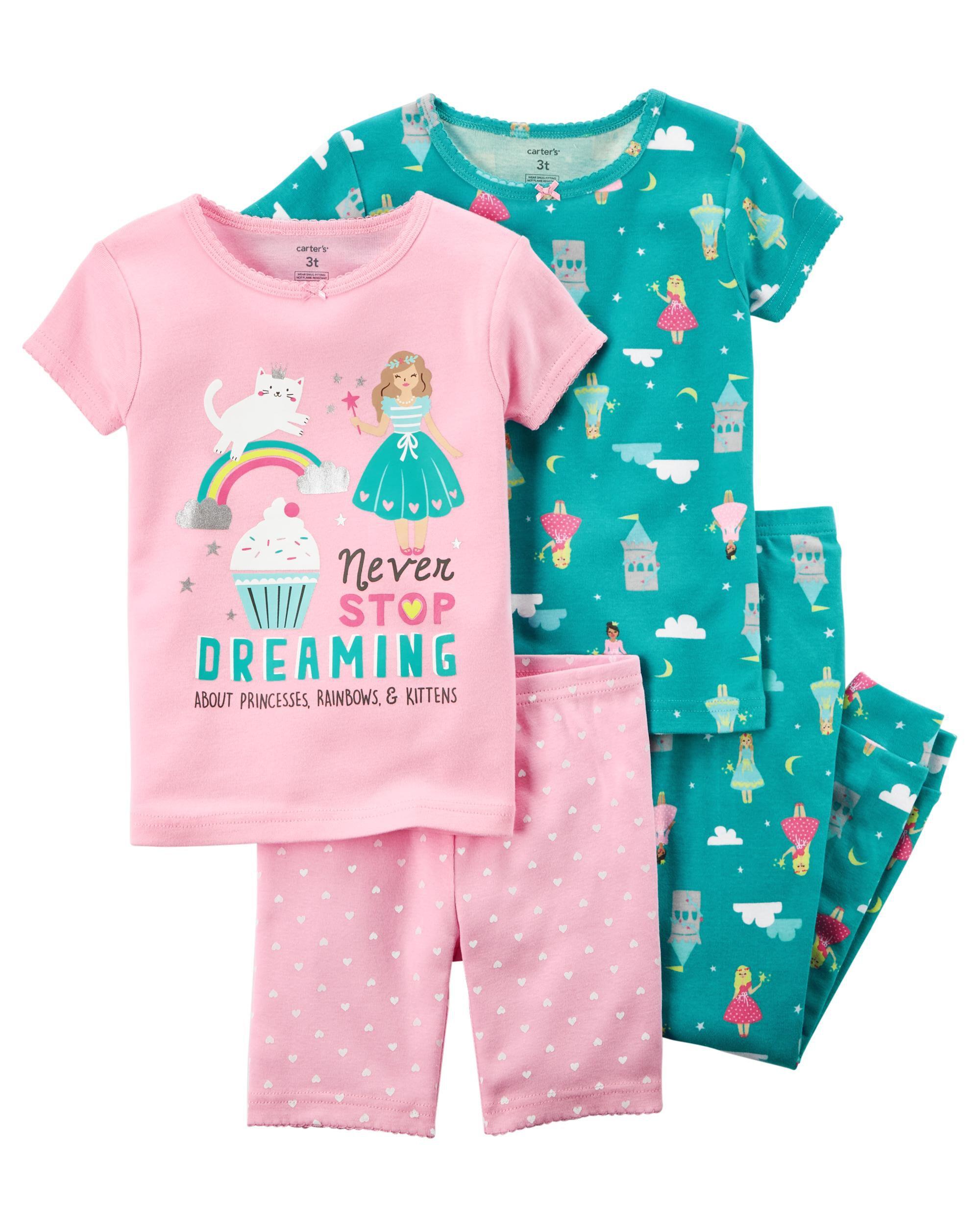 c3a596b83 Toddler Girl 4-Piece Snug Fit Cotton PJs | Carters.com