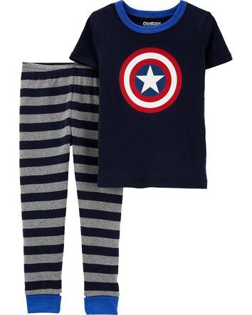 Boys OshKosh Footless Soft Fleece two peace Pyjamas Age 4 6 8 10 12