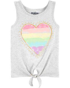 0977007e496ad Rainbow Heart Tie-Front Tank