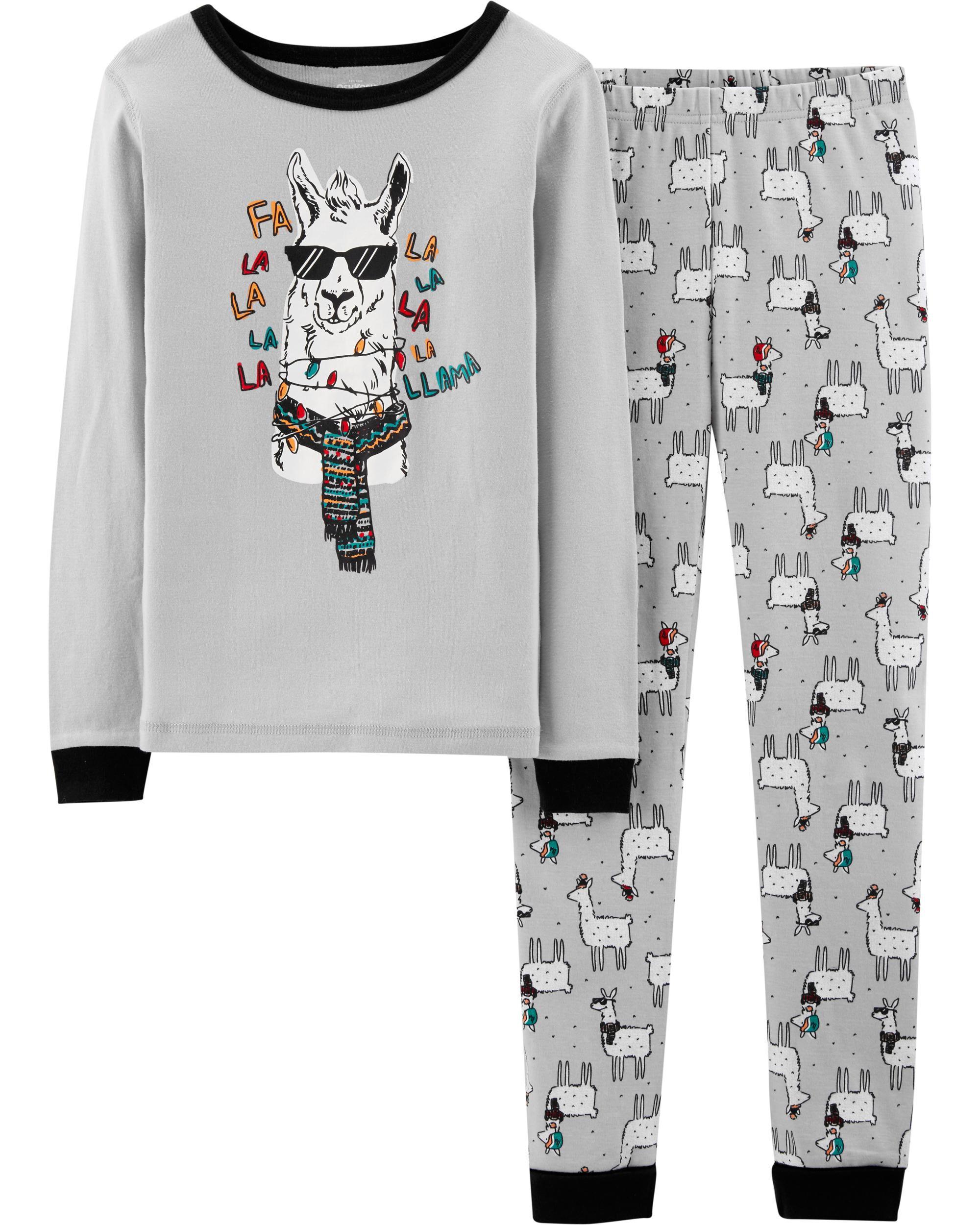 Snug Fit Christmas Llama Cotton PJs | OshKosh.com