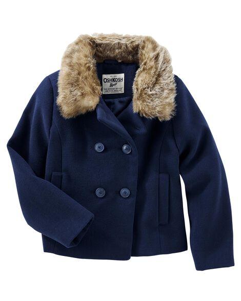 b41ac119a986 Faux Fur Peacoat