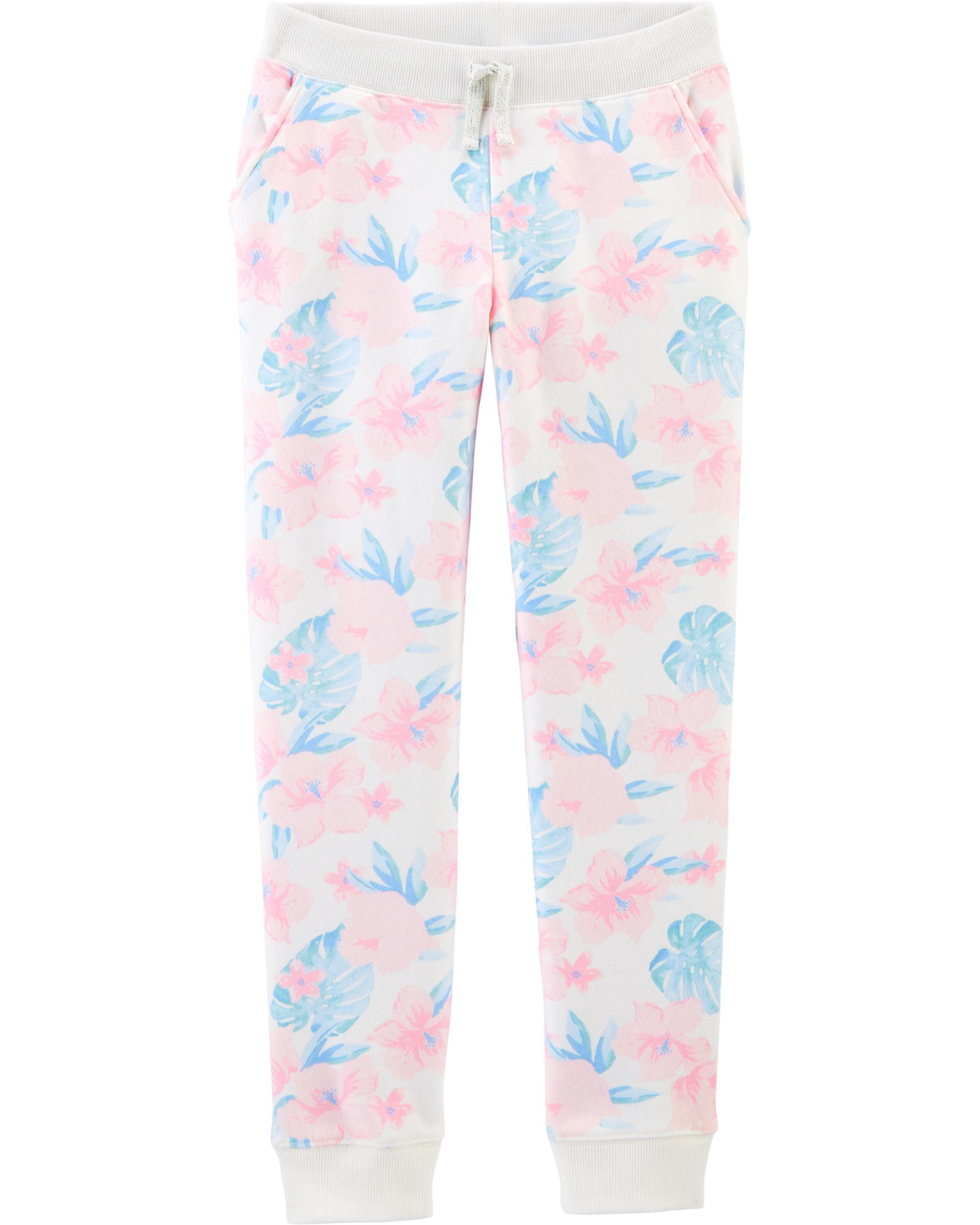 *CLEARANCE*Tropical Floral Fleece Pants
