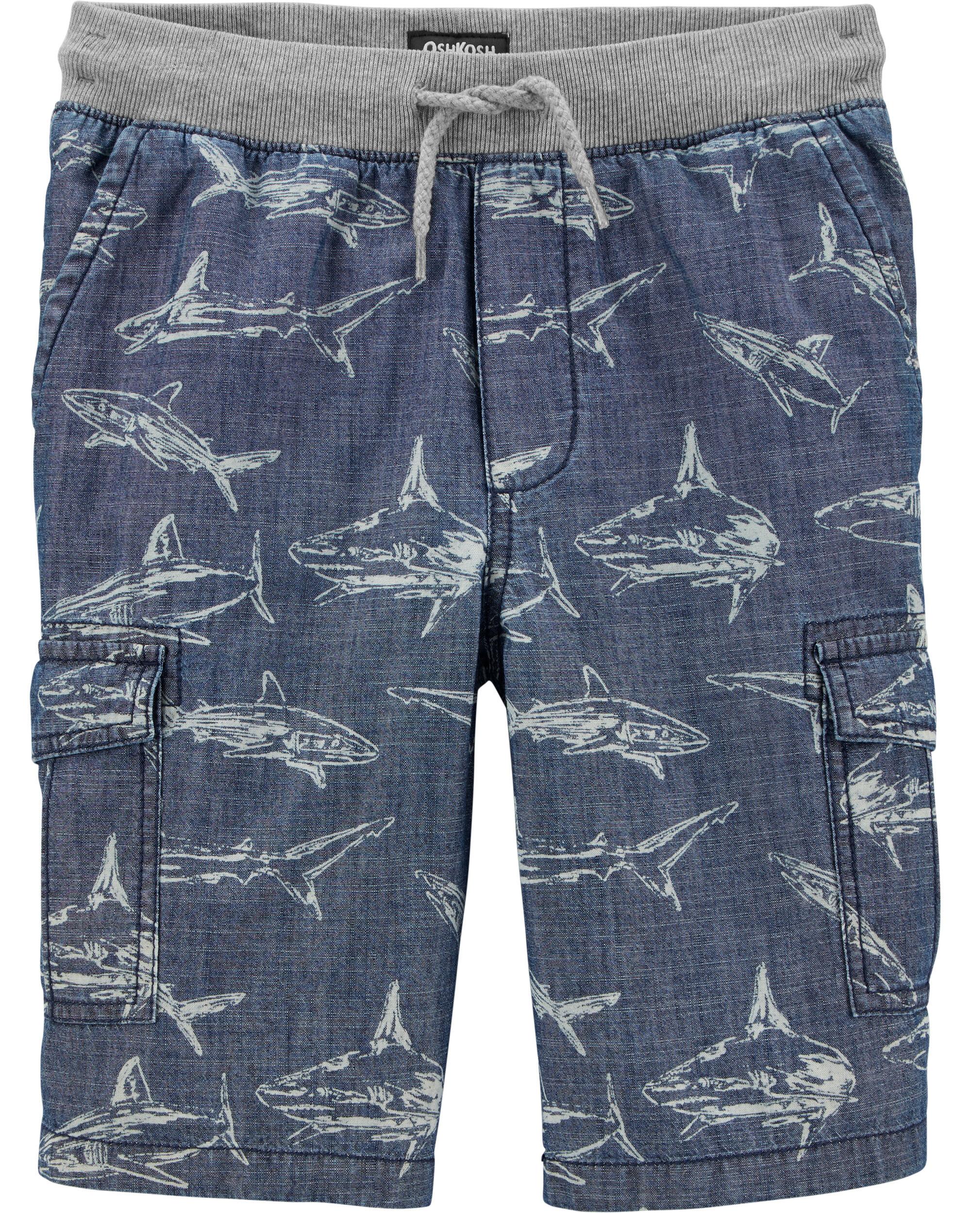*DOORBUSTER*Pull-On Shark Cargo Shorts
