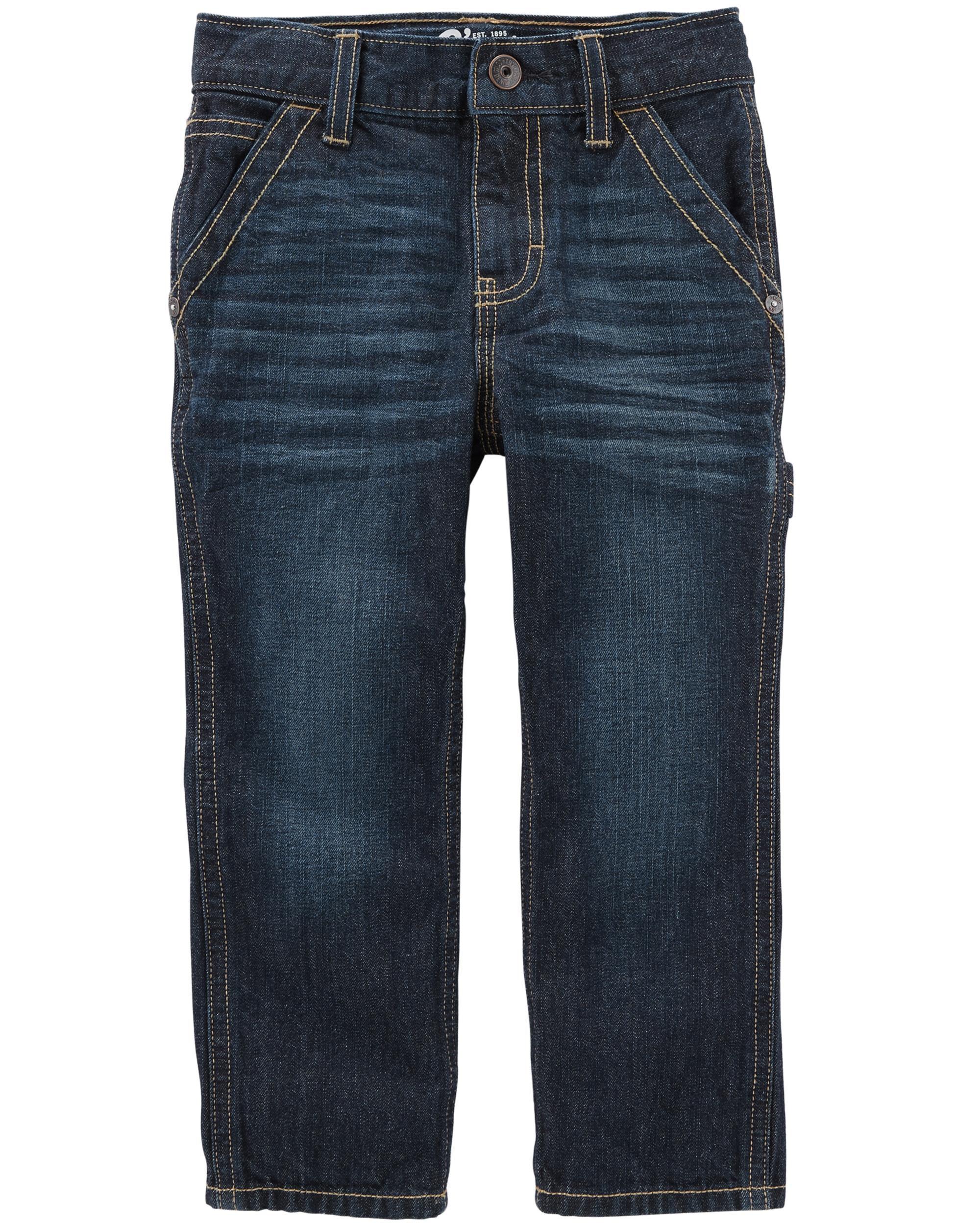 Workwear Straight Jeans - Mineral Dark Wash