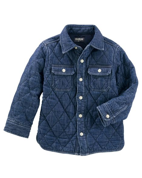b147a9773634 Quilted Denim Jacket
