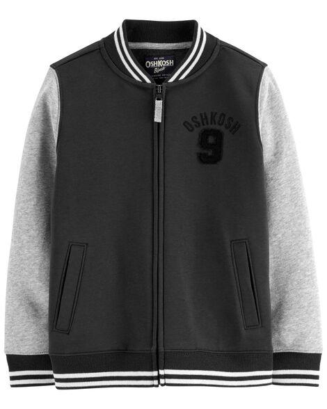 Fleece Varsity Jacket
