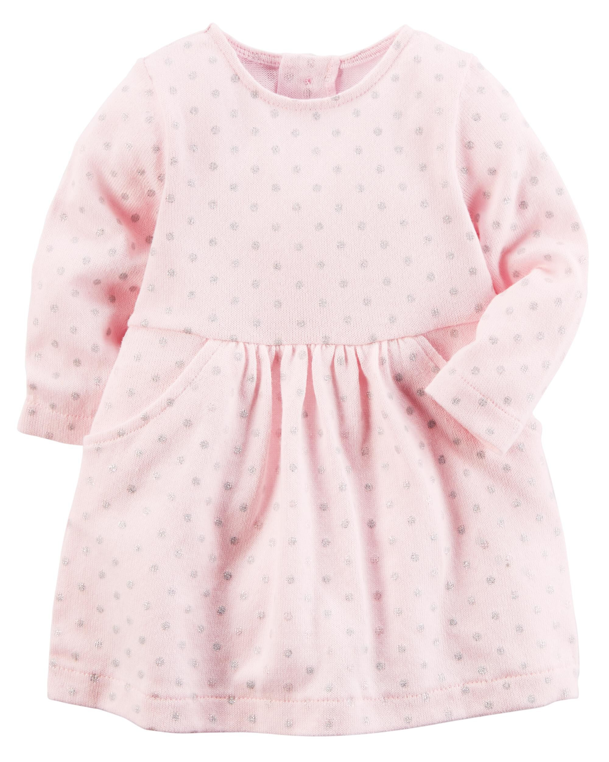 Baby Girl Polka Dot Sweater Dress