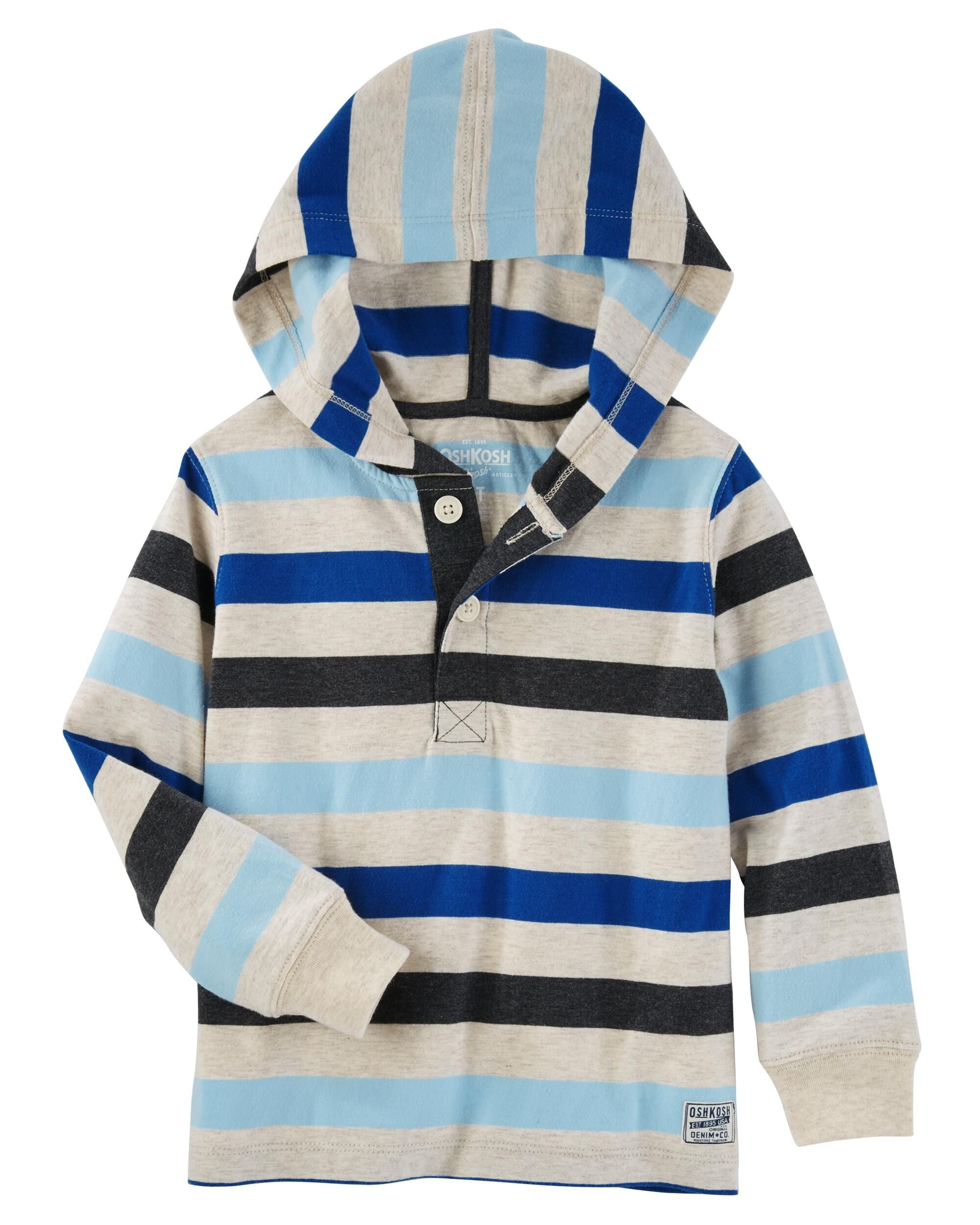 Striped Hooded Henley