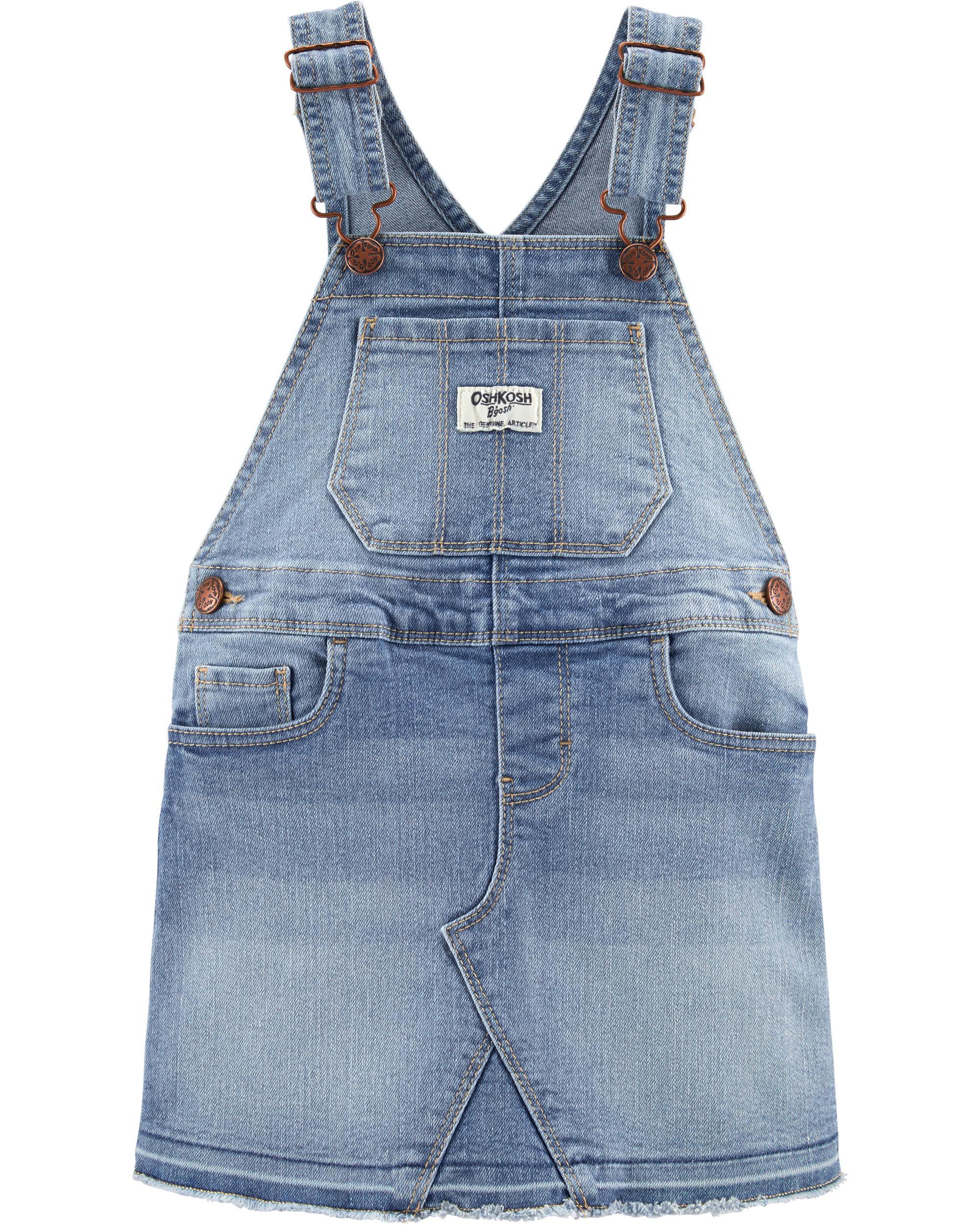 Denim 7 OshKosh Girls Embroidered Frayed Hem Shorts