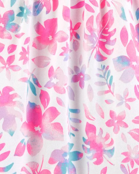 Sleeveless Tropical Floral Dress