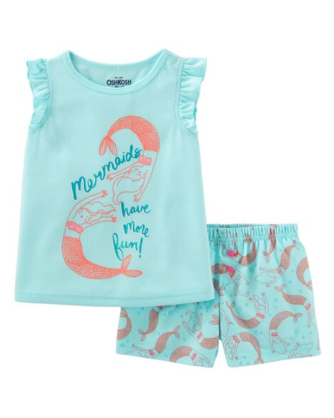2 Piece Mermaid P Js by Oshkosh