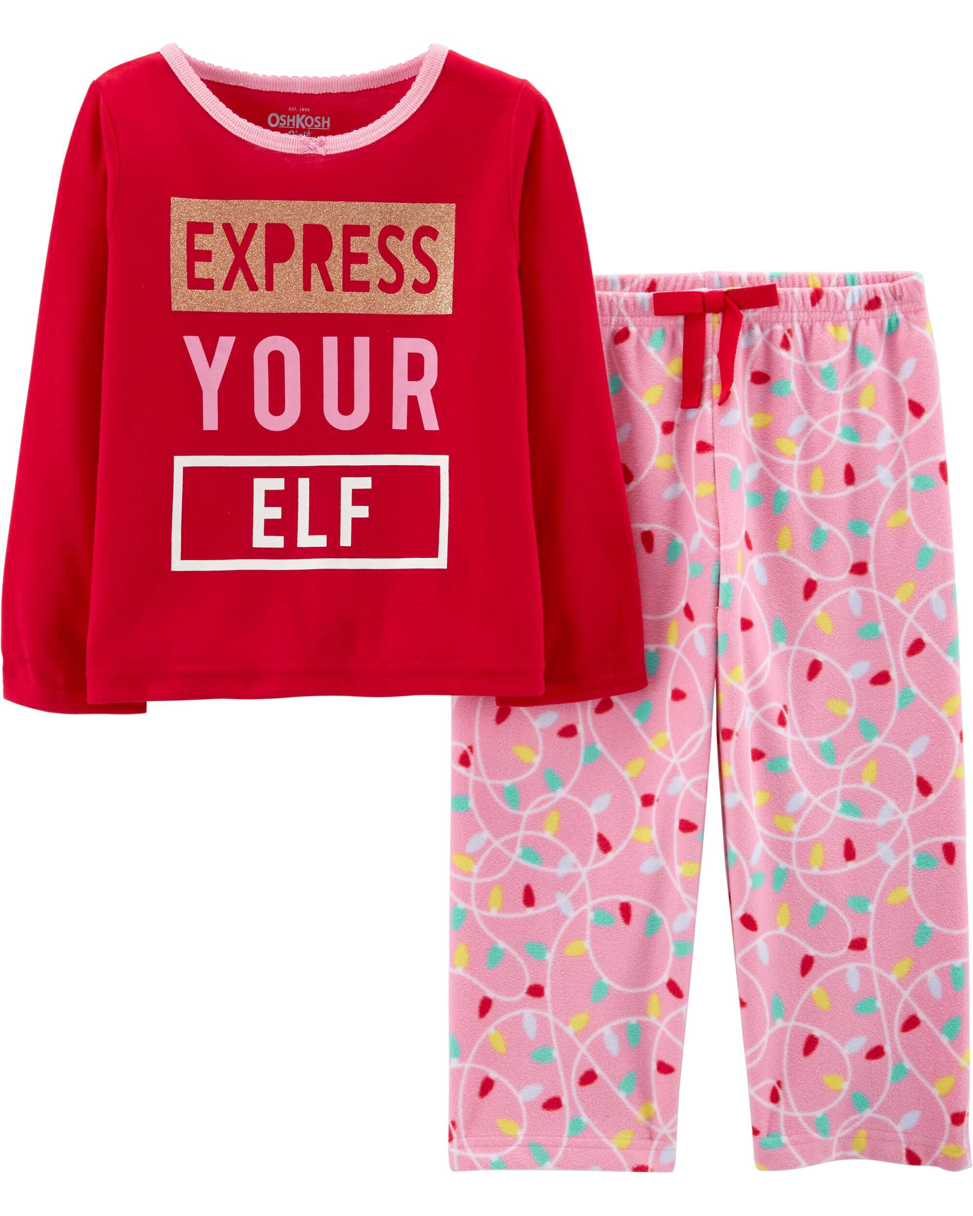 9dcc2093a 2-Piece Express Your Elf PJs