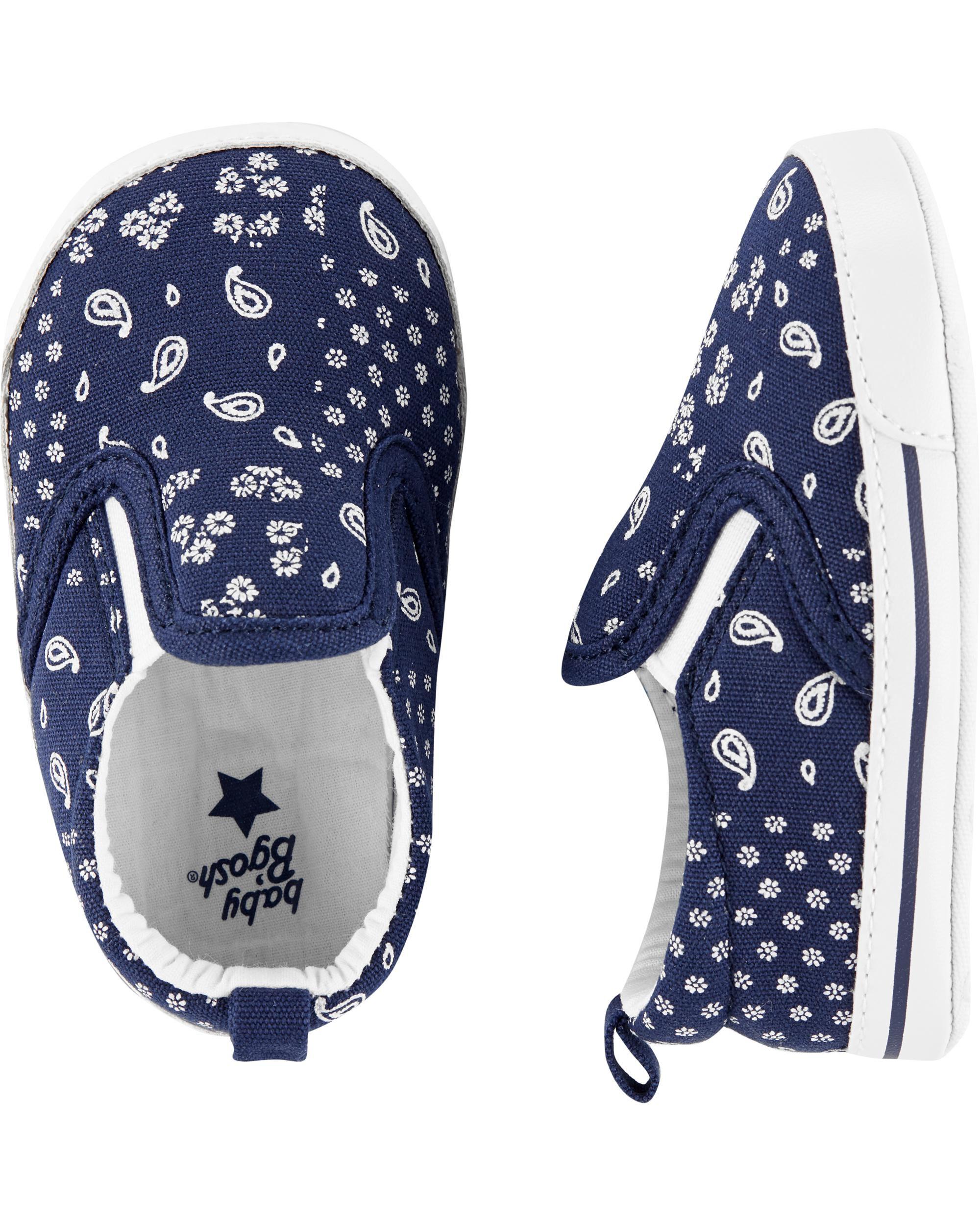 OshKosh Bandana Slip-On Crib Shoes