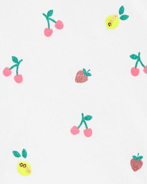 Fruit Peplum Hem Top