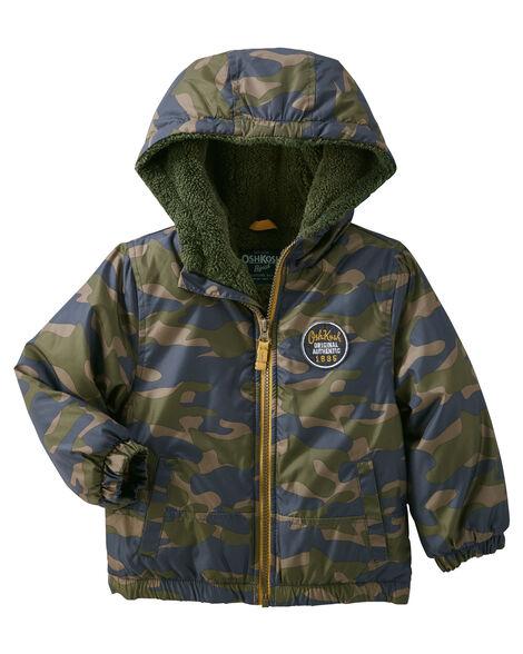 5152ddbea Camo Hooded Heavyweight Jacket