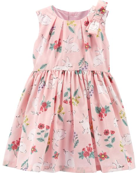 2eac4a94c Baby Girl Floral Bunny Dress