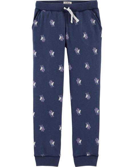 Logo Fleece Unicorn Pants