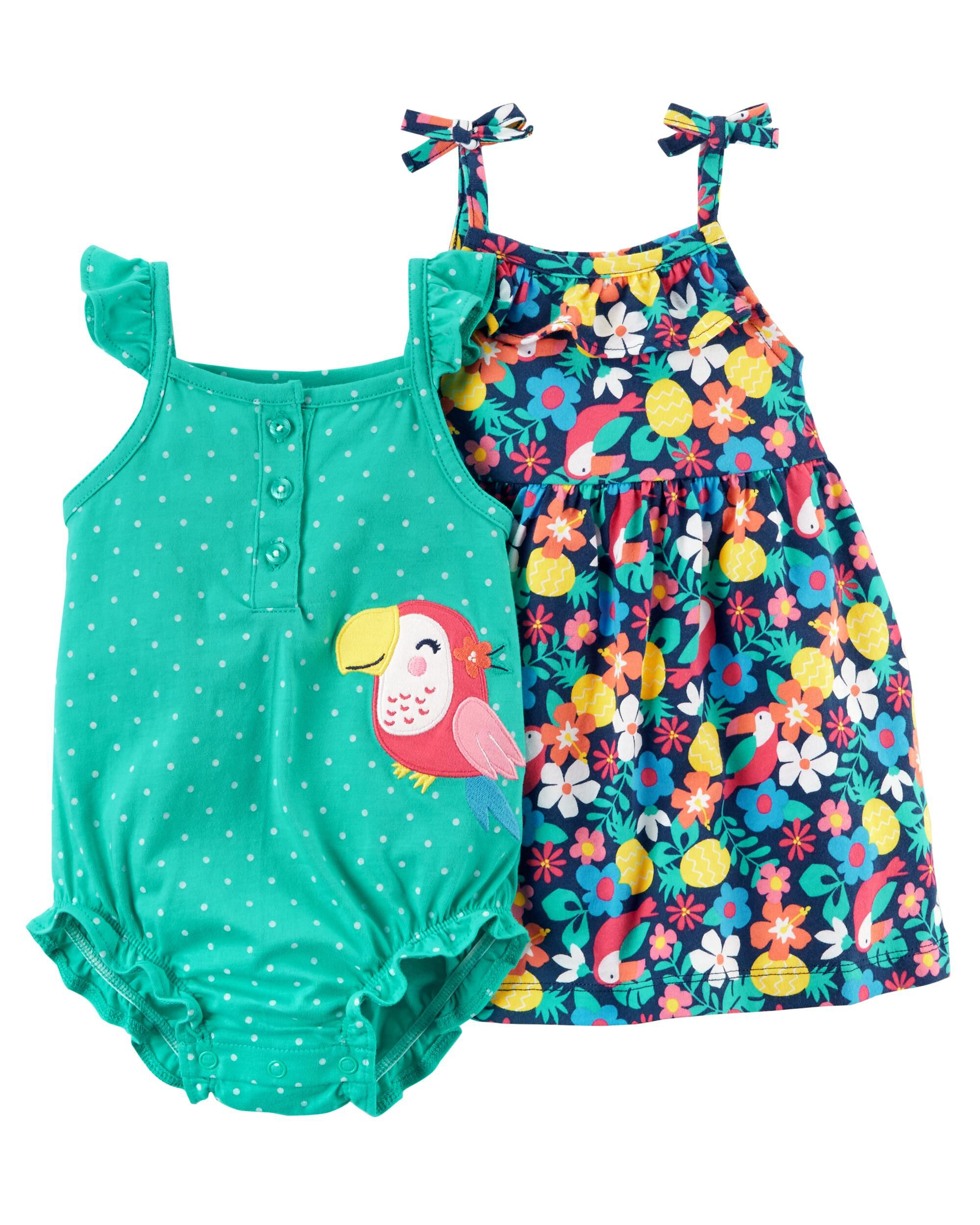 Baby Girl Set Of 2 Romper Clothing, Shoes & Accessories