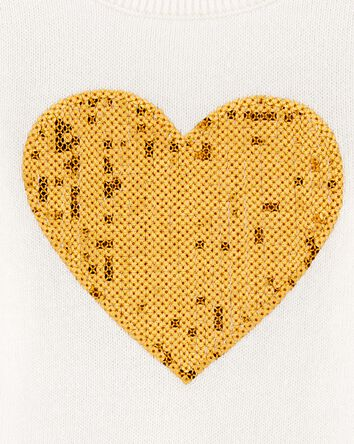 Sequin Heart Sweater