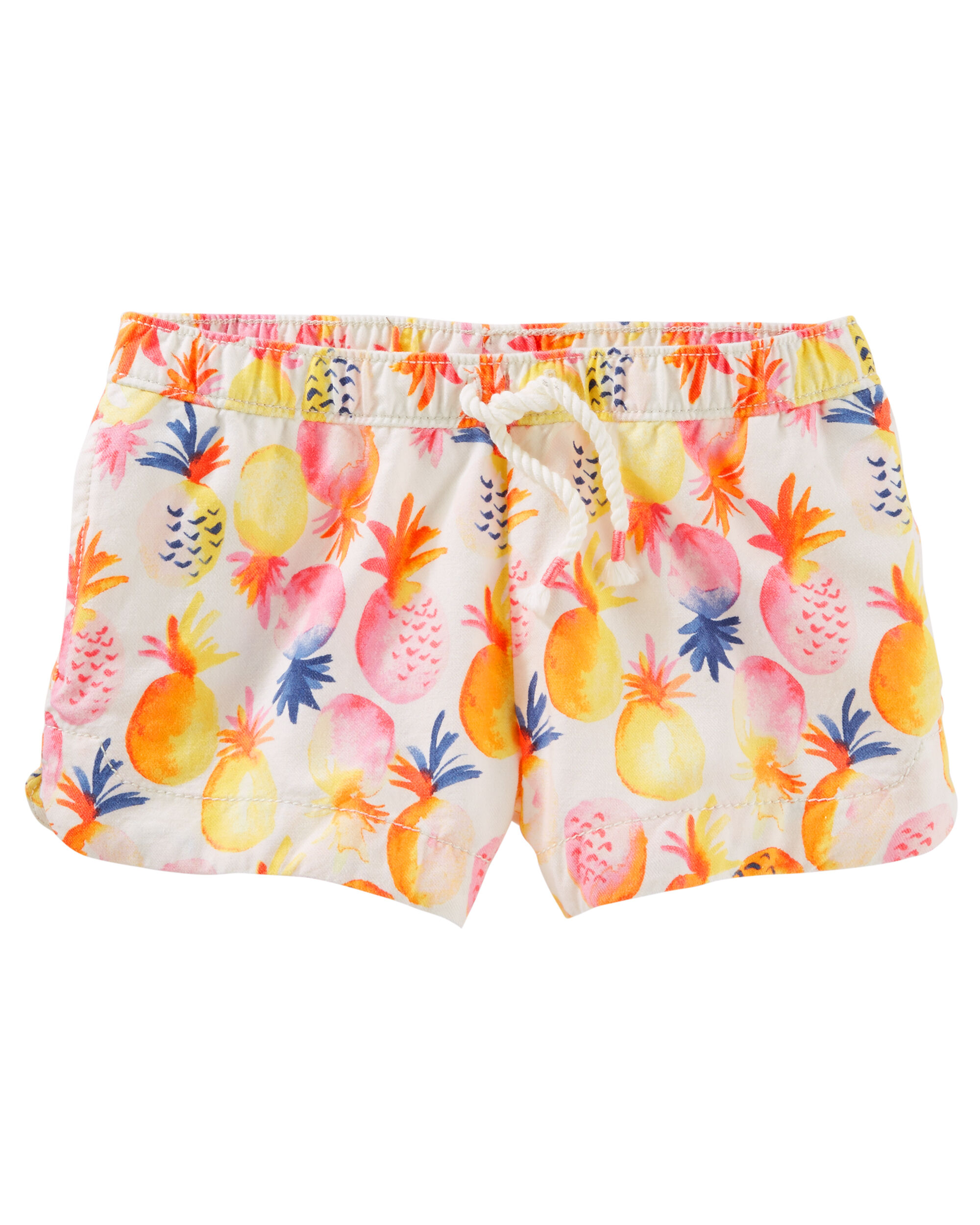 Pineapple Print Sun Shorts