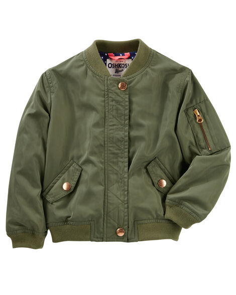 feb8fed0887f Twill Bomber Jacket