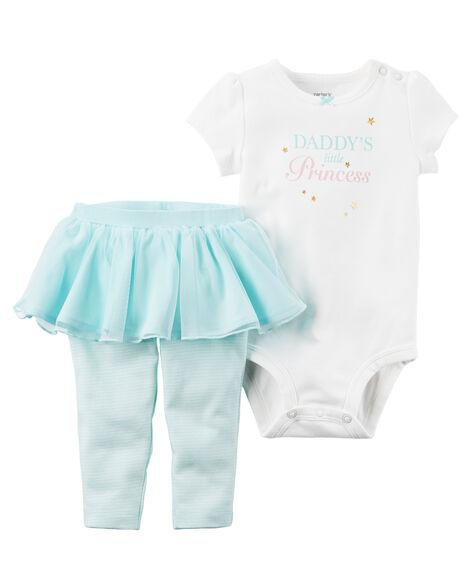 5bdce671abc0 Baby Girl 2-Piece Bodysuit   Tutu Pant Set