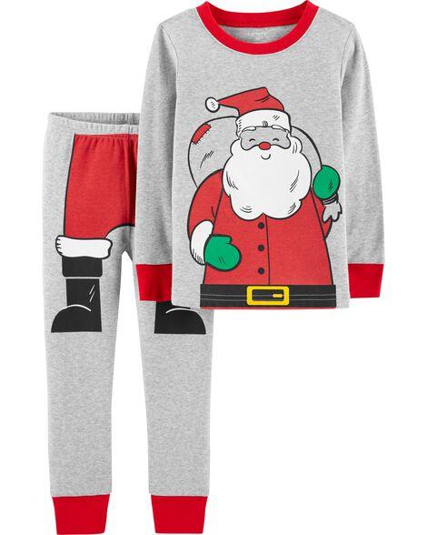 b080056b41 Toddler Boy 2-Piece Christmas Snug Fit Cotton PJs