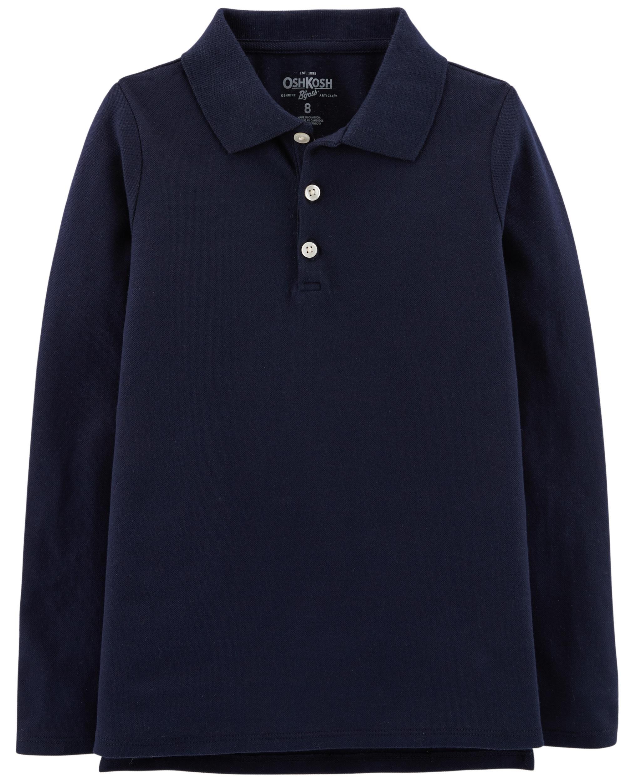 OshKosh BGosh Boys Long Sleeve Uniform Polo