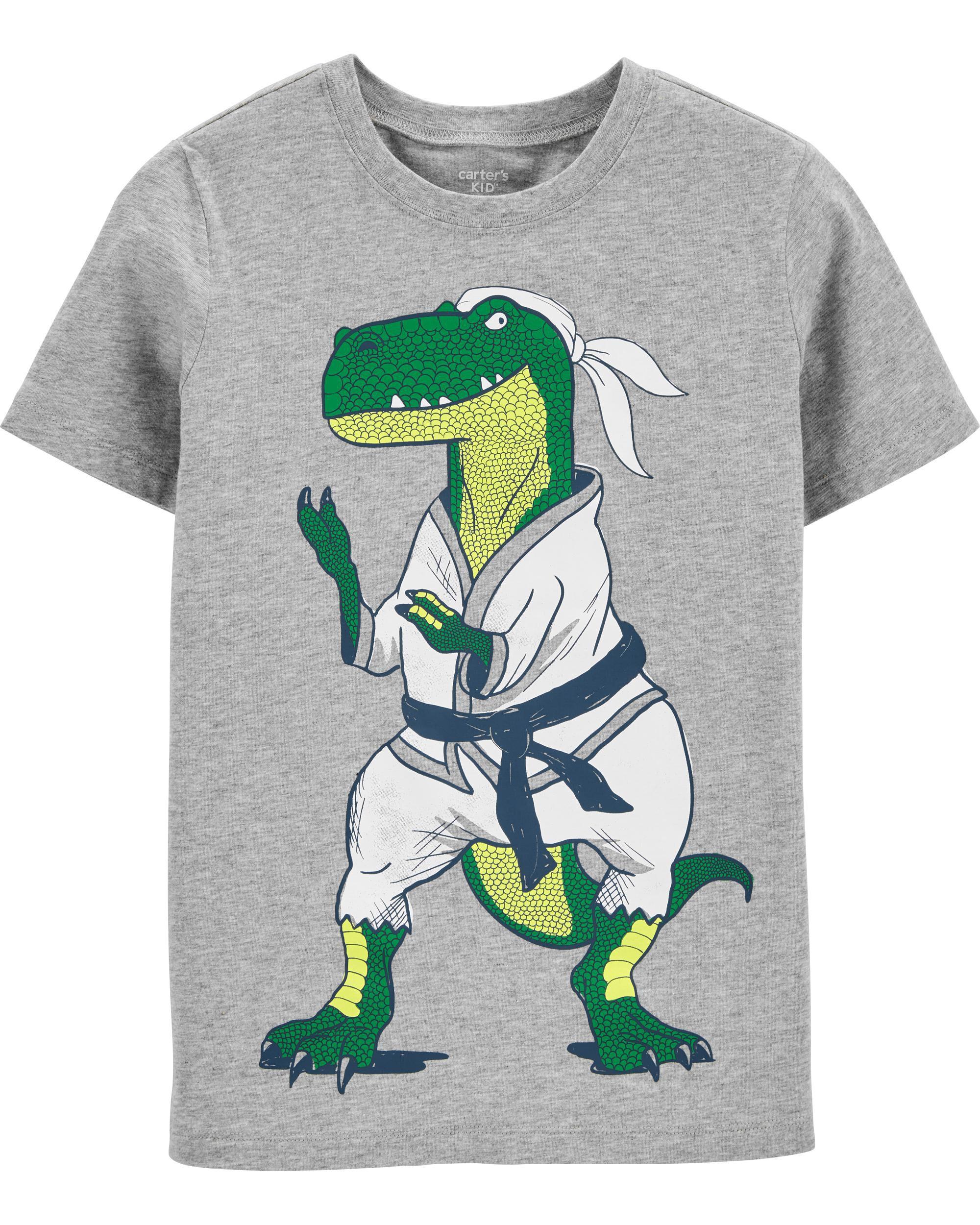 *DOORBUSTER*Karate Dinosaur Jersey Tee