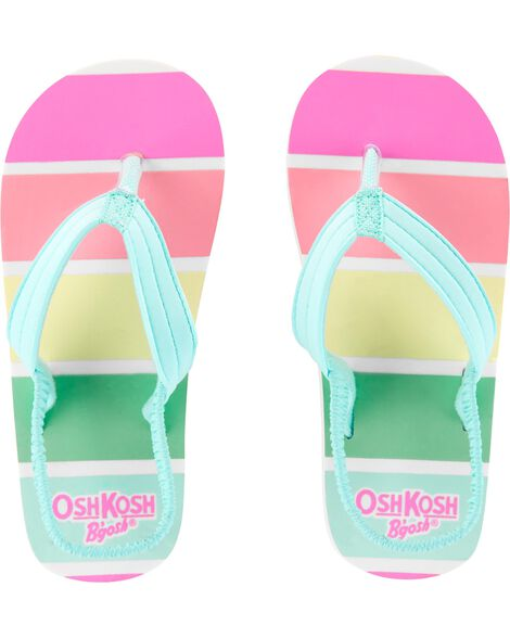 f485c0e043cd OshKosh Rainbow Flip Flops ...