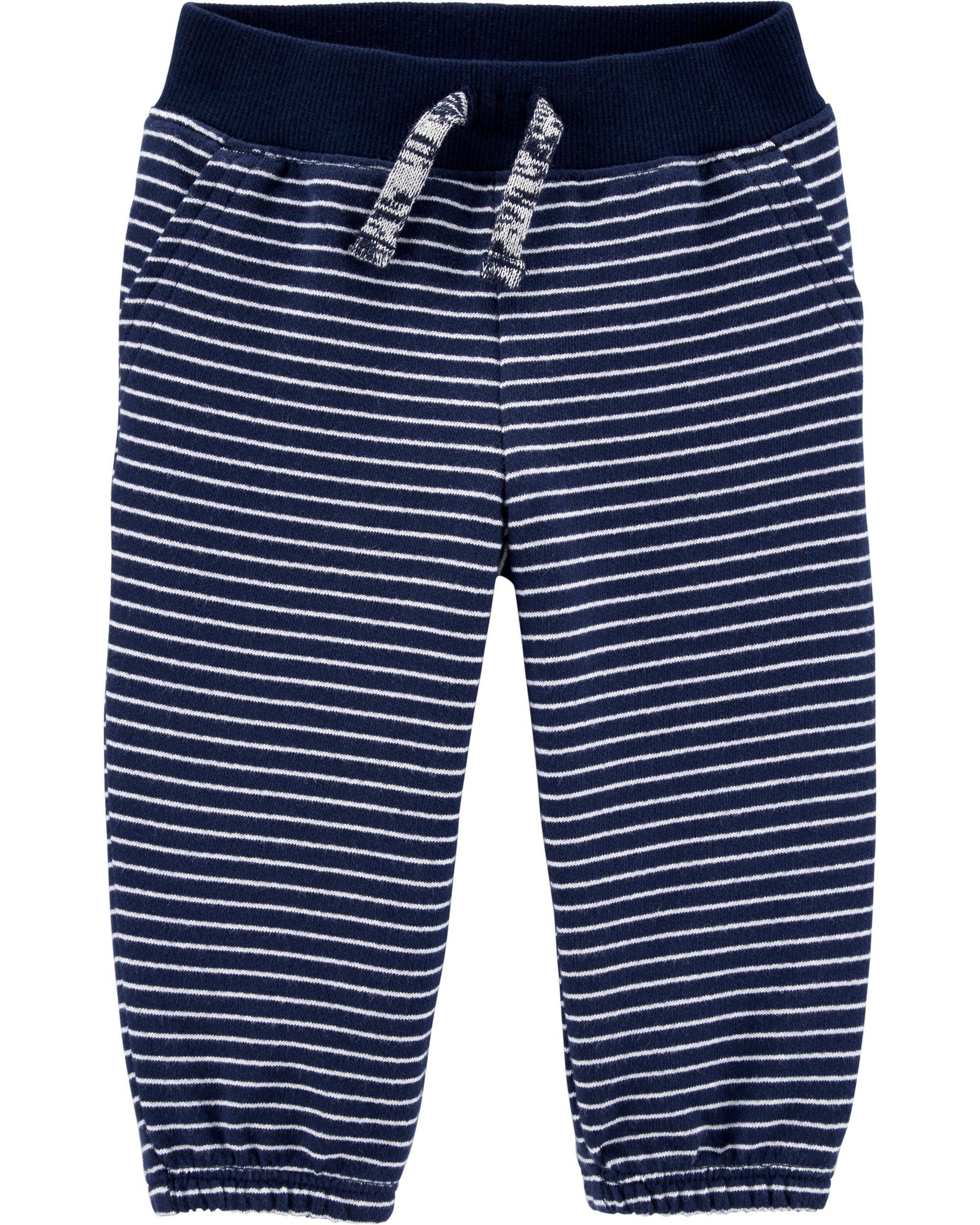 5 Kids Carters Little Boys Blue Stripe Pull On Shorts