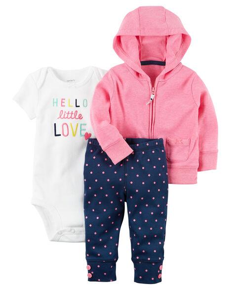 0a58e7b1a Baby Girl 3-Piece Neon Little Jacket Set