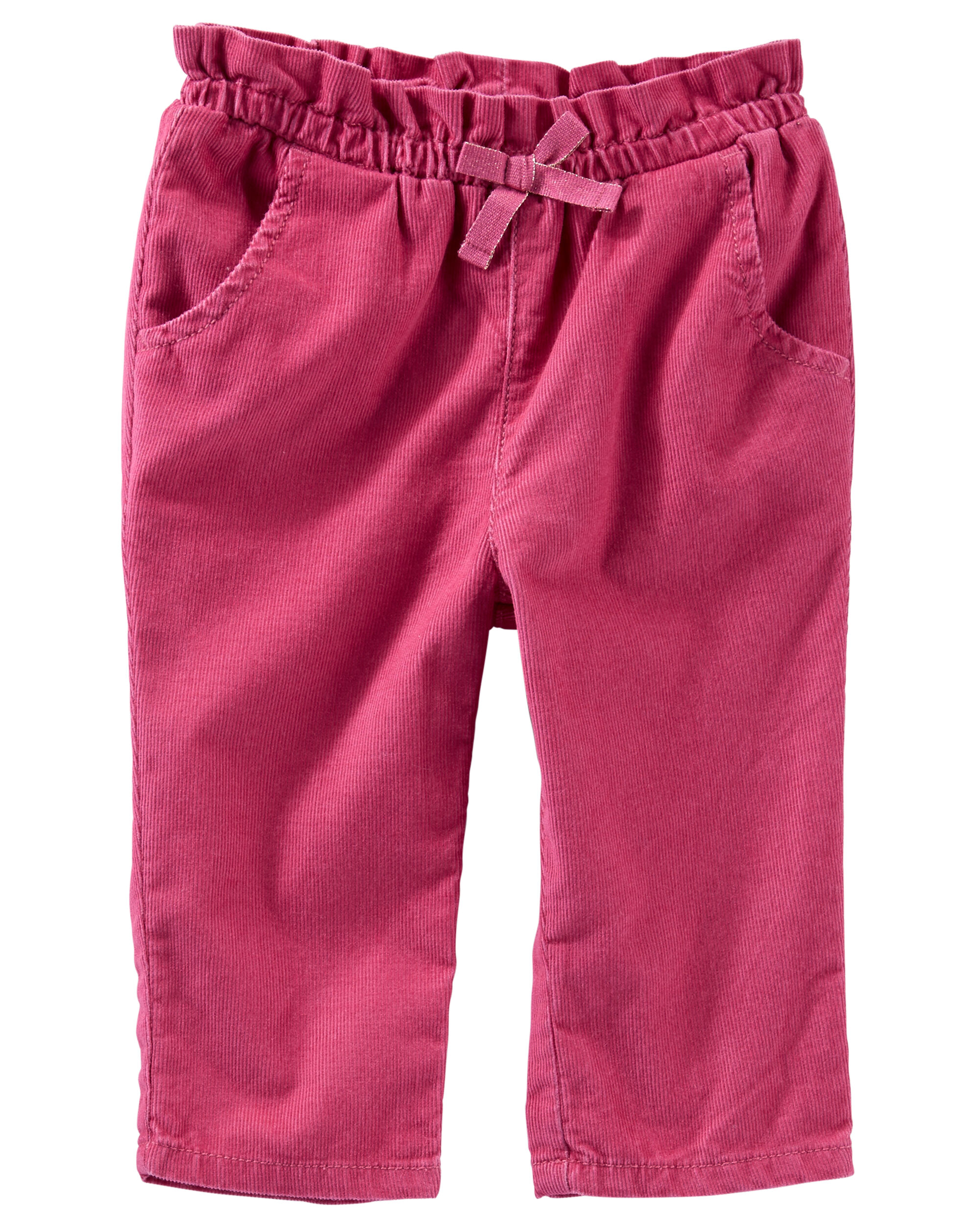 Pull-On Corduroy Paperbag Pants